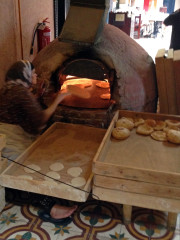 Katara Village bread baking woman Doha Qatar Global High Performance visit to the Middle East
