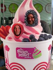 Don Parker jordan troggio Yogurt cutout Pearl mall Qatar Doha Global High Performance visit to the Middle East