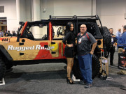 Rugged Ridge Jeep Wrangler Unlimeted lifted Beautiful model girl SEMA 2014 Don Parker JR.