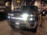 PUTCO luminix LED Light bar Chevy Silverado SEMA 2014 GHP