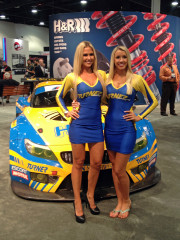 Turner Motorsport blonde models beautiful girls SEMA 2014 GlobalHigh Performance