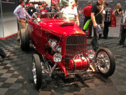 Red 1932 Ford Roadster Hot Rod Barrett Jackson Double Trouble SEMA2014 Global High Performance