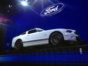 White Ford 2015 global Mustang SEMA 2014 Global High Performance