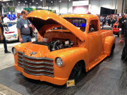Chevy 1932 3100 truck vicarious HPI Customs American Autowire SEMA 2014 orange Global High Performance