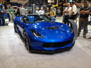 Front view Z06 ZO6 Corvette convertible Chevy C7 SEMA 2014 Global High Performance