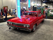 Old School Chevy red SEMA 2014 Chevelle Malibu Chevrolet hot rod