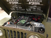 1952 LSX Jeep Willys Supercharged Nitrous SEMA 2014 Rancho Drag racing