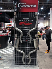 2015 Mustang exhaust Hooker headers booth SEMA 2014