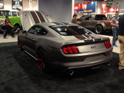 Grey Gray Ford 2015 Mustang rear view SEMA 2014
