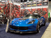 Blue Z06 Z07 Corvette American Racing Headers SEMA 2014