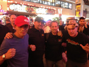 Discovery Channel Street Outlaws Farmtruck AZN Las Vegas SEMA 2014 Fremont Street Global High Performance