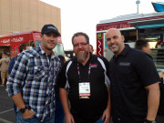 Overhaulin A Team Cast members Velocity Chris Jacobs Jordan Troggio SEMA 2014 Ignited Party Las Vegas Chip Foose Global High Performance