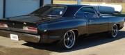 69 Dodge superbee 3/4 rear view