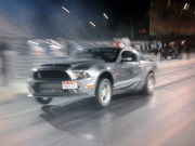Yas Drag night Mustang wheelie by Hisham Ebrahim of Alyasy 7