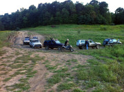 Donny's Jeep Cherokee with friends at a local 4x4 jamboree